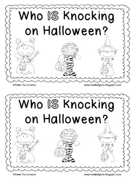 Sight Word Roll 'n' Rainbow-Write REBUS Reader {Who IS Knocking on Halloween?}