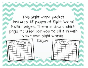 Sight Word Rollin' Game
