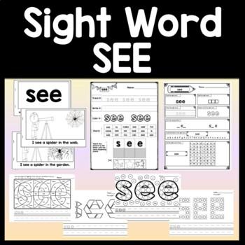 Sight Word SEE | 2 Sight Word SEE Books | 2 Sight Word SEE