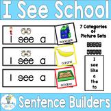 SIGHT WORD SENTENCE BUILDERS-Back to School Frames (K-2/SPED/ELL)
