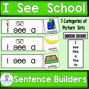 Sight Word Frames-SENTENCE BUILDERS-Back to School (K-2/SPED/ELL)