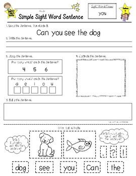Sight Word SENTENCES --- Sight Word Savvy