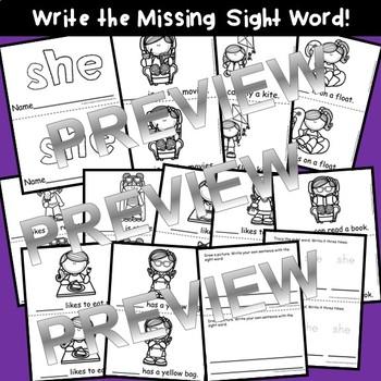 Sight Word Fluency Reader SHE