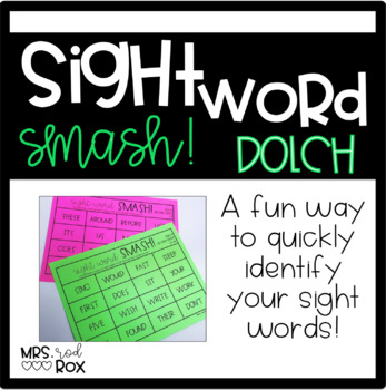Sight Word SMASH!! Sight Word Recognition- DOLCH