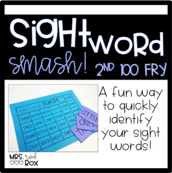 Sight Word SMASH!! Sight Word Recognition-FRY'S Second 100