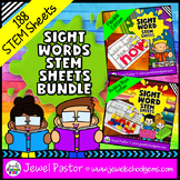 Distance Learning Sight Word STEM Sheets BUNDLE for Pre-K,