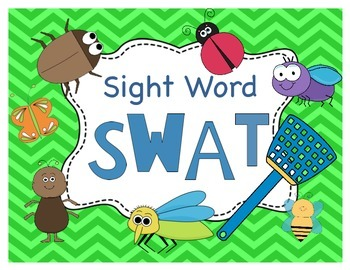 Insect Sight Word SWAT (Dolch Primer List)