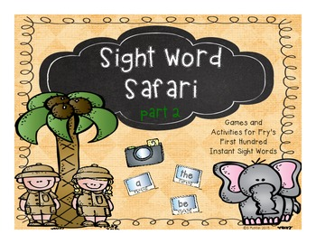 Sight Word Safari Part 2