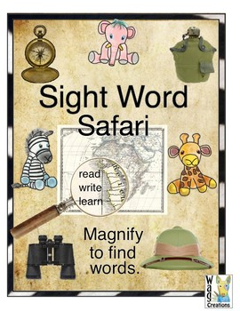 Sight Word Safari Word Hunt.