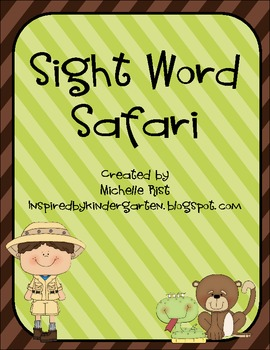Sight Word Safari Word Work