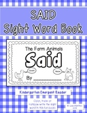 "Sight Word ""Said"" Emergent Reader"