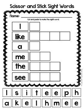 Sight Word Sampler Freebie