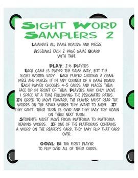 Sight Word Sampler 2: 3 Game Bundle!  Aligned with CCS