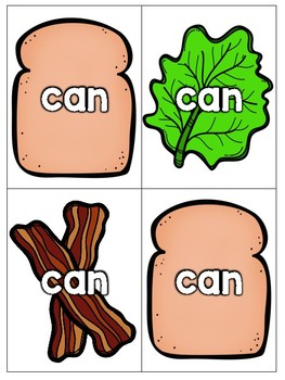 Sight Word Sandwich Stackers