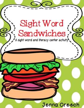 Sight Word Sandwiches