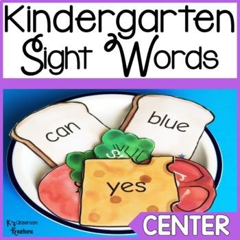 Kindergarten Sight Word Center