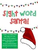 Sight Word Santa Holiday Themed Word Work