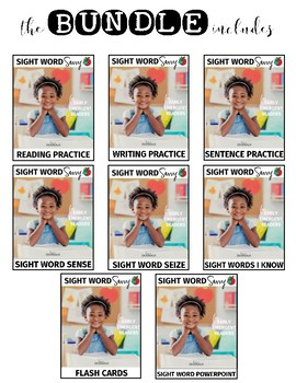 WRITING Practice Pages --- Sight Word Savvy
