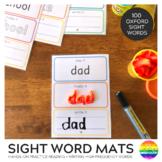 Sight Word Say It Make It Write It Mats - Oxford Word List 1-100