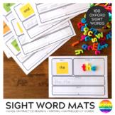 Sight Word Say It Make It Write It Use It Mats 1-100 Oxford List Words