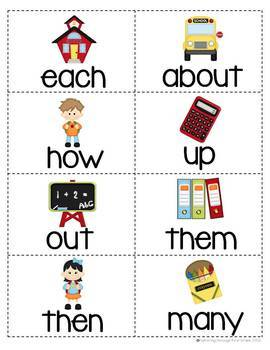 """Sight Word Activities """"Sight Word School"""" - 100 Sight Words Reading Game"""