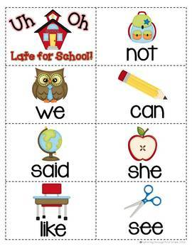 "Sight Word Activities ""Sight Word School"" - 100 Sight Words Reading Game"