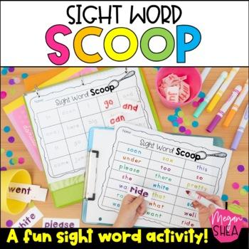 Sight Word Scoop Activity