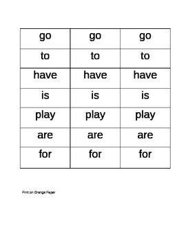 Sight Word Scoops