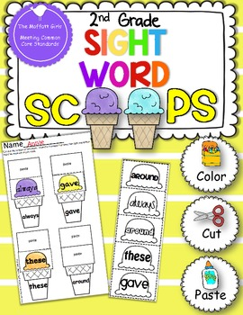 Sight Word Scoops (2nd Grade Edition)