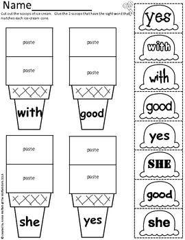 Sight Word Scoops (First Grade Edition)