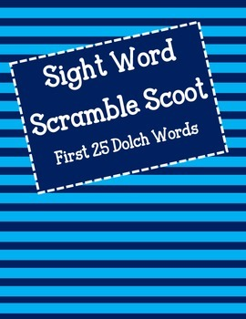 Sight Word Scoot  - First 25 Dolch Words (pre-primer)