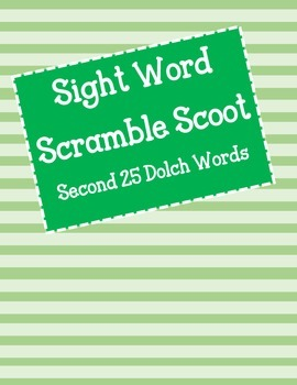 Sight Word Scoot - Second 25 Dolch Words