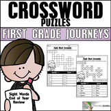 End of Year Sight Word Review Crossword Puzzles - Aligned to Journeys 1st Grade