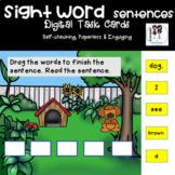 BOOM cards Kindergarten Sight Word Scrambled Sentences  (D