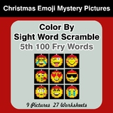 Sight Word Scramble - Christmas Emoji Mystery Pictures - 5