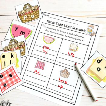Sight Word Center: Free