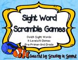 Sight Word Scramble Games Dolch Pre-Primer-Grade 3