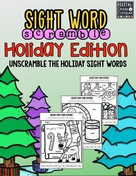 Sight Word Scramble:  Holiday Edition
