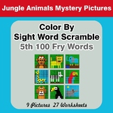 Sight Word Scramble - Jungle Animals Mystery Pictures - 5t