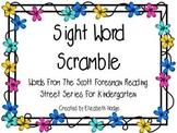 Sight Word Scramble Kindergarten Scott Foresman