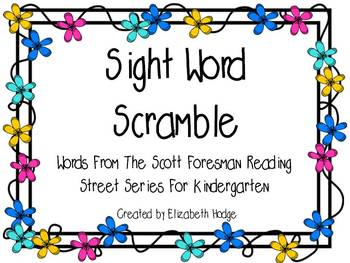 Sight Word Scramble Kindergarten Scott Foresman