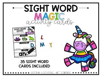 Sight Word Scramble Magic Cards