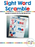 Sight Word Scramble Magnet Center (Fry List 1)