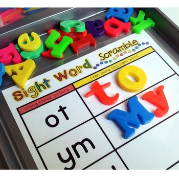 Sight Words Scramble {Magnetic Letter Center}