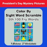 Sight Word Scramble - President's Day Mystery Pictures - 5