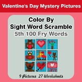 Sight Word Scramble - Valentine's Day Mystery Pictures - 5