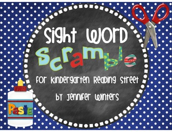 Sight Word Scramble for Kindergarten Reading Street 2013