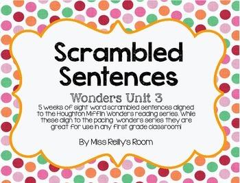 Sight Word Scrambled Sentences 3