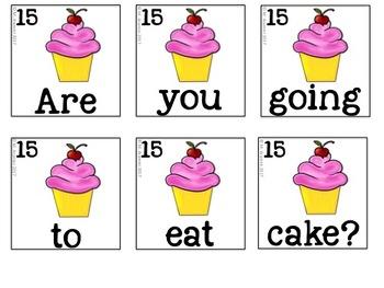 Sight Word Scrambled Sentences: Comprehension Literacy Center