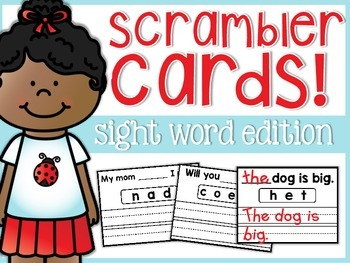 Sight Word Scrambler Cards